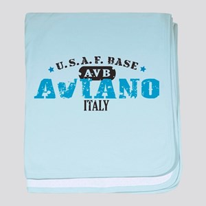 Aviano Air Force Base baby blanket