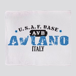 Aviano Air Force Base Throw Blanket