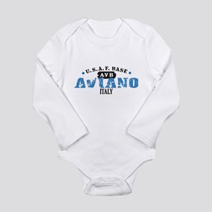 Aviano Air Force Base Long Sleeve Infant Bodysuit
