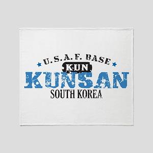 Kunsan Air Force Base Throw Blanket