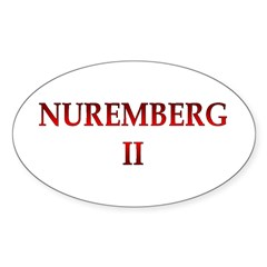 Nuremberg 2 Sticker (Oval 50 pk)