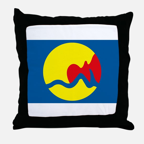 Grand Rapids Flag Throw Pillow