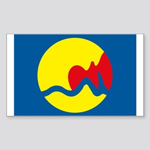 Grand Rapids Flag Rectangle Sticker
