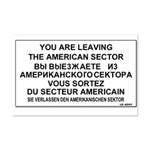 Leaving The American Sector Mini Poster Print