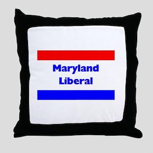 Maryland Liberal Throw Pillow