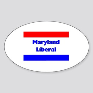 Maryland Liberal Oval Sticker