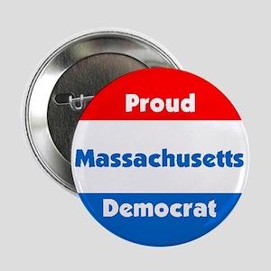 Massachusetts Proud Democrat Button