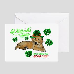 Good Luck Golden Greeting Cards (Pk of 10)