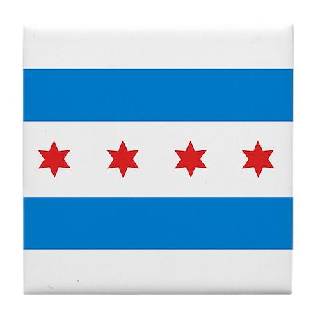 Chicago Flag Tile Coaster