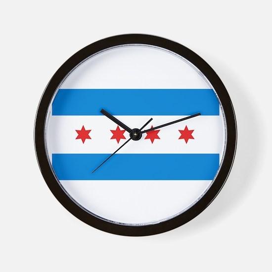 Chicago Flag Wall Clock
