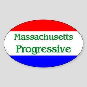 Massachusetts Progressive Oval Sticker