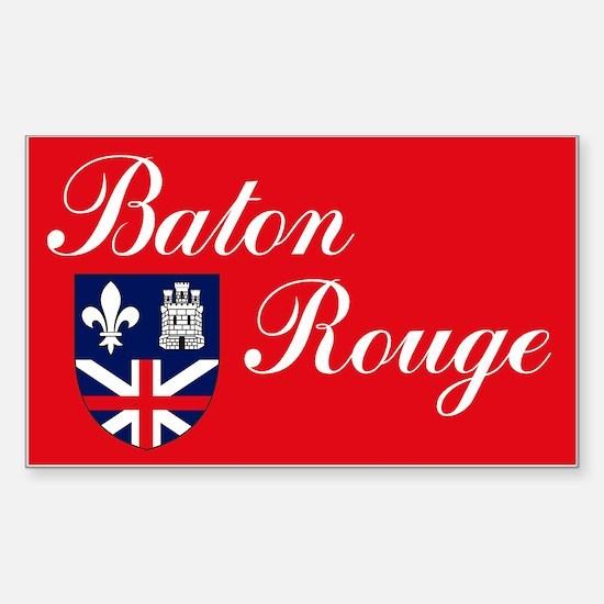 Baton Rouge Flag Rectangle Decal