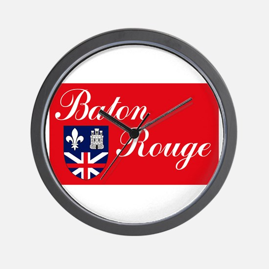 Baton Rouge Flag Wall Clock