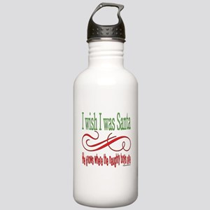 I Wish I Was Santa Stainless Water Bottle 1.0L