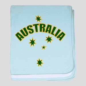 Australia Southern cross star baby blanket