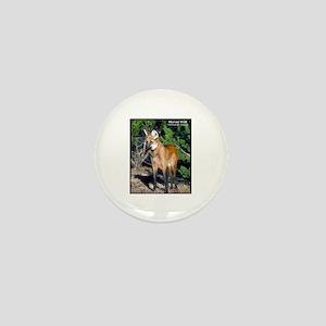 Maned Wolf Photo Mini Button