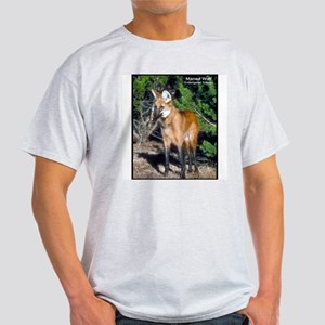 Maned Wolf Photo (Front) Ash Grey T-Shirt