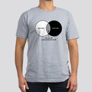 Dark Side Venn Diagram Men's Fitted T-Shirt (dark)