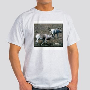 Addax Antelope Photo (Front) Ash Grey T-Shirt