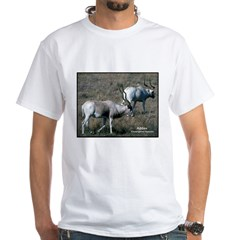 Addax Antelope Photo (Front) White T-Shirt