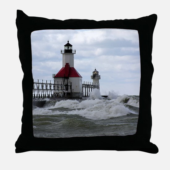 St. Joseph Lighthouse Throw Pillow