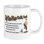 MY CAT PLAYS GOLF, TOO - Limerick Mug