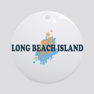 Long Beach Island NJ - Seashells Design Ornament (