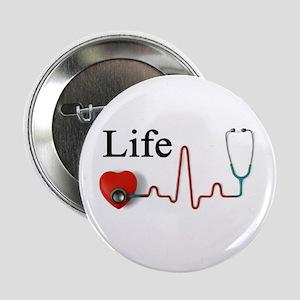 """Life 2.25"""" Button"""