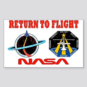 Return To Flight Sticker (Rectangle)