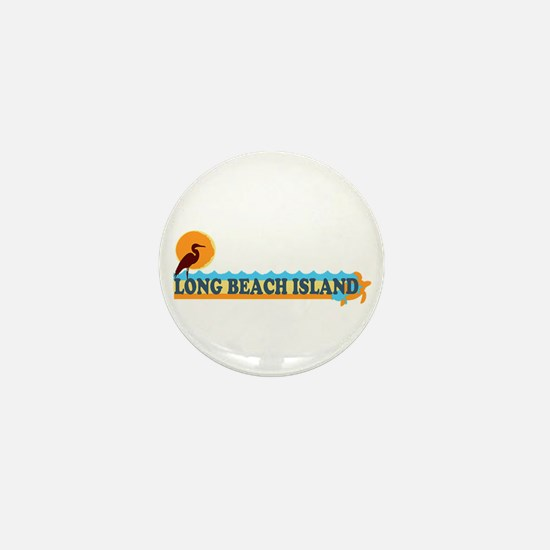 Long Beach Island NJ - Beach Design Mini Button