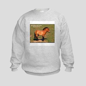 Mongolian Wild Horse Photo (Front) Kids Sweatshirt