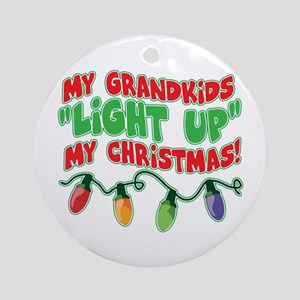 GRANDKIDS LIGHT UP CHRISTMAS Ornament (Round)