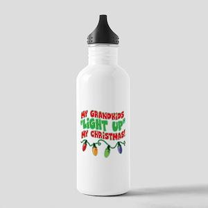 GRANDKIDS LIGHT UP CHRISTMAS Stainless Water Bottl