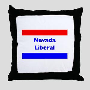 Nevada Liberal Throw Pillow