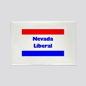 Nevada Liberal Rectangle Magnet