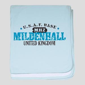 Mildenhall Air Force Base baby blanket