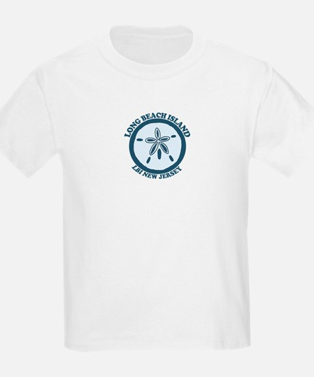 Long Beach Island NJ - Sand Dollar Design T-Shirt