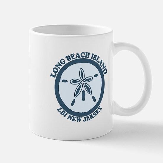 Long Beach Island NJ - Sand Dollar Design Mug