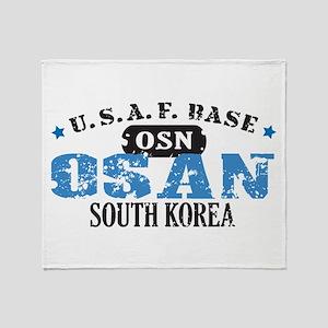 Osan Air Force Base Throw Blanket