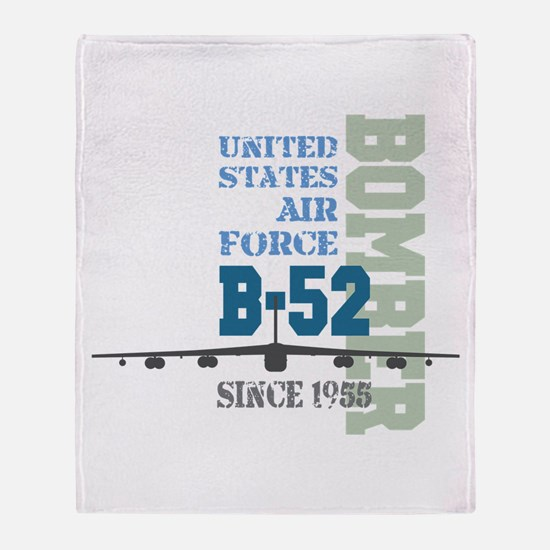 B-52 Bomber Military Aircraft Throw Blanket