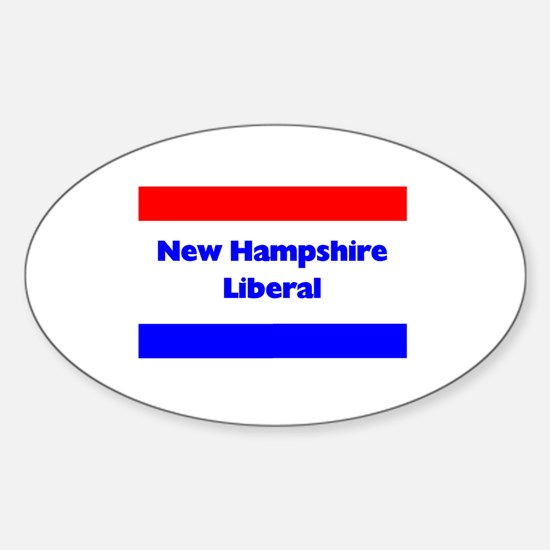 New Hampshire Liberal Oval Decal