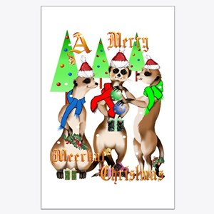 Merry Meerkat Christmas Large Poster
