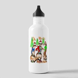 Merry Meerkat Christmas Stainless Water Bottle 1.0