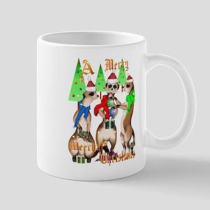 Merry Meerkat Christmas Mug