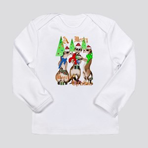 Merry Meerkat Christmas Long Sleeve Infant T-Shirt