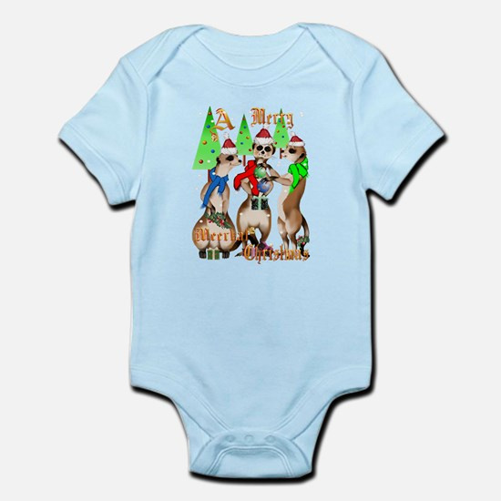 Merry Meerkat Christmas Infant Bodysuit