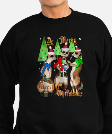 Merry Meerkat Christmas Sweatshirt (dark)