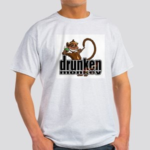 Drunken Monkey Ash Grey T-Shirt