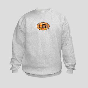 Long Beach Island NJ - Oval Design Kids Sweatshirt