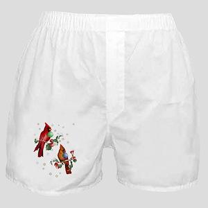 Two Christmas Birds Boxer Shorts